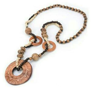 New! Vintage Necklace Color Brown